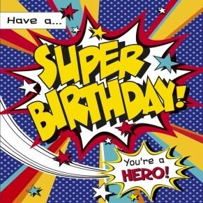 Ευχετήρια Κάρτα Γενεθλίων Glitter - Super Birthday