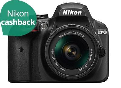 DSLR Nikon D3400 Body Wireless & AF-P 18-55 VR - Μαύρο