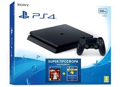 Sony PlayStation 4 - 500GB Slim D Chassis & NBA 2K17 & 3 Μήνες PS Plus