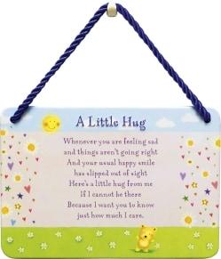Κρεμαστή Μεταλλική Πινακίδα - A Little Hug