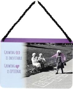 Κρεμαστή Μεταλλική Πινακίδα - Hopscotch Grannies