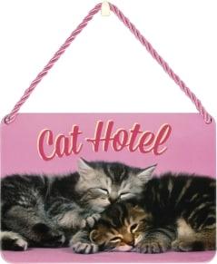 Κρεμαστή Μεταλλική Πινακίδα - Cat Hotel