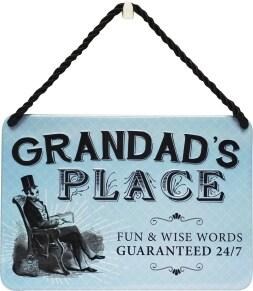 Κρεμαστή Μεταλλική Πινακίδα - Grandad S Place