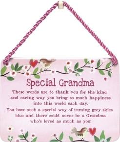 Κρεμαστή Μεταλλική Πινακίδα - Special Grandma