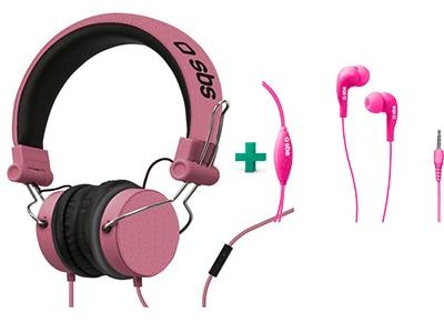 Ακουστικά Κεφαλής SBS Studio Mix Ροζ & SBS Studio Mix 10 Ροζ