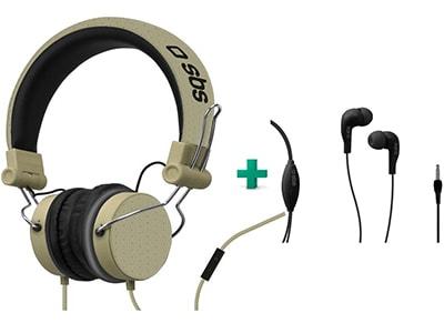 Ακουστικά Κεφαλής SBS Studio Mix Γκρι & SBS Studio Mix 10 Μαύρο