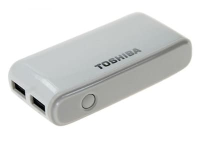 Powerbank Toshiba 0288506 6000 mAh 2A Λευκό
