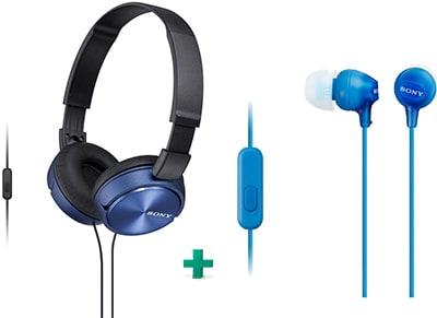 Ακουστικά Sony MDR-EX15AP & Sony MDR-ZX310AP - Μπλε