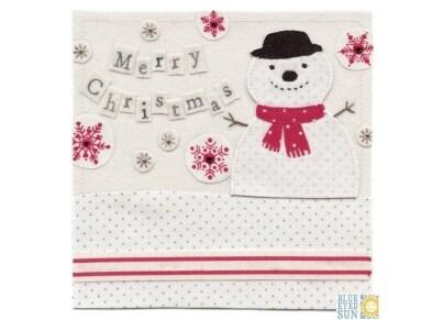 Χριστουγεννιάτικη Κάρτα Merry Christmas Snowman Vintage To