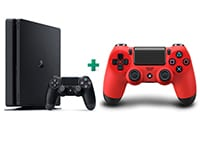Sony PlayStation 4 - 500GB Slim D Chassis & 2ο χειριστήριο (κόκκινο)