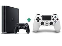 Sony PlayStation 4 - 500GB Slim D Chassis & 2ο χειριστήριο (λευκό)