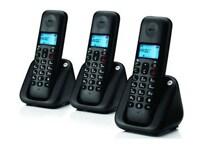 Motorola T303 Triple Pack Ασύρματο Τηλέφωνο Μαύρο