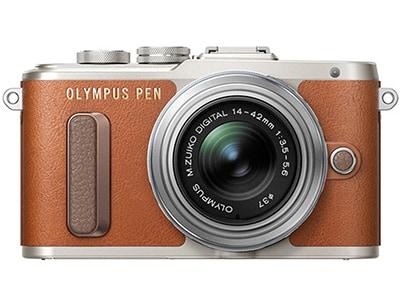 Mirrorless Camera Olympus E-PL8 Kit 14-42mm EZ Pancake - Καφέ