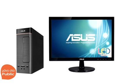 "Asus K20CE - IT005T & Monitor Asus 19"" VS197DE (N3050/4GB/500GB/ HD) - Desktop PC"