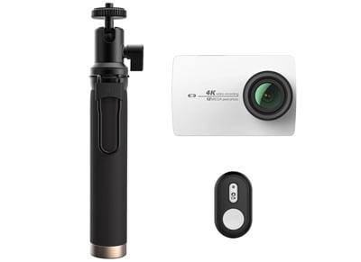 Action Cam Xiaomi Yi 4K & Selfie Stick & Bluetooth Button Λευκό