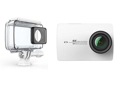 Action Cam Xiaomi Yi 4K & Αδιάβροχη Θήκη Λευκό
