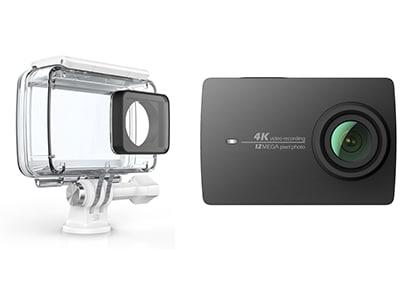Action Cam Xiaomi Yi 4K & Αδιάβροχη Θήκη Μαύρο