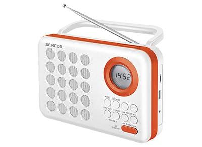 Sencor SRD 220 - Φορητό Ραδιόφωνο με Ρολόι - Λευκό