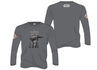 T-Shirt Star Wars Rogue One At Walker Long Sleeve - Γκρι L