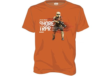 T-Shirt Star Wars Rogue One Shore Trooper Πορτοκαλί - L
