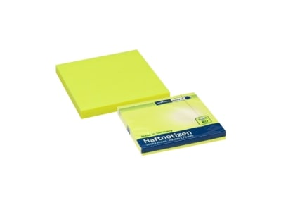 Αυτοκόλλητα Χαρτάκια Office Point Neon- 75x75mm - 80 Φύλλα Κίτρινο