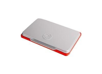 Ταμπόν Σφραγίδας Office Point Μεταλλικό - 11x7cm - Κόκκινο