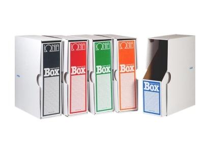 Θήκη Περιοδικών με Κουτί Δ - Ιωνία - Πορτοκαλί