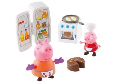Σετ Παιχνιδιού Κουζίνα και 2 Φιγούρες Peppa Pig - Giochi Preziosi