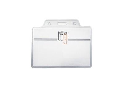 Θήκη Κάρτας - Office Log -  Διάφανη 9x6Cm - 10 Τεμάχια