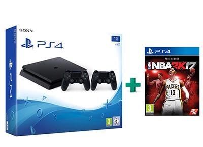 Sony PlayStation 4 - 1TB Slim D Chassis & ΝΒΑ 2Κ17 & 2ο Χειριστήριο (μαύρο)