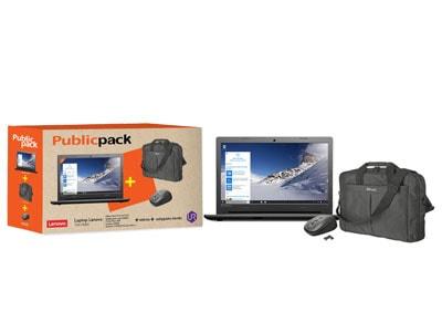 """Public Pack: Lenovo 100-15IBD - 15.6"""" (i3-5005U/4GB/500GB/ HD) + τσάντα + ποντίκ υπολογιστές   laptops"""