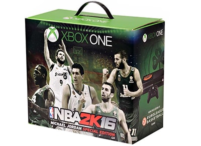 Microsoft Xbox One Panathinaikos BC Edition - 500GB & NBA 2K16 Michael Jordan Edition
