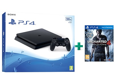 Sony PlayStation 4 - 500GB Slim D Chassis & Uncharted 4: Το Τέλος Ενός Κλέφτη
