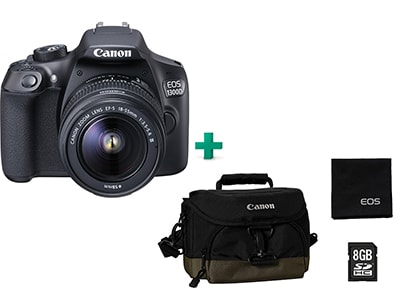 Canon EOS 1300D Kit 18-55mm III Μαύρο & Canon Value Up Kit