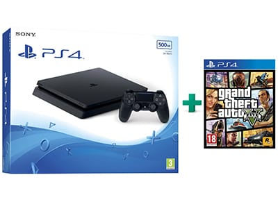 Sony PlayStation 4 - 500GB Slim D Chassis & Grand Theft Auto V gaming   κονσόλες   ps4