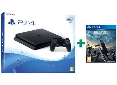 Sony PlayStation 4 - 500GB Slim D Chassis & Final Fantasy XV