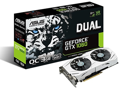 Κάρτα γραφικών NVIDIA ASUS DUAL GTX 1060 O3G
