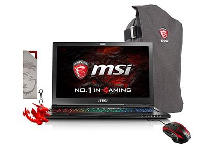 "Laptop MSI GS63 7RF-219NL - 15.6"" (i7-7700HQ/16GB/ 1256GB/GTX1060)"