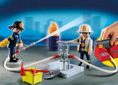 PLAYMOBIL 5651 Βαλιτσάκι Πυροσβέστες με αντλία νερού
