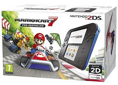 Nintendo 2DS Μαύρο/Μπλε & Mario Kart 7