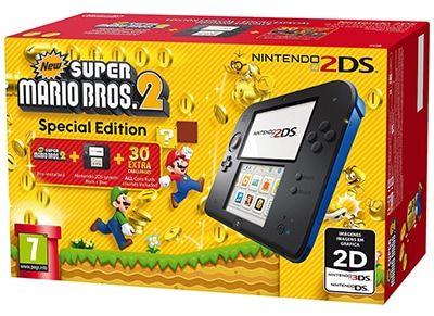 Nintendo 2DS Μαύρο/Μπλε & New Super Mario Bros. 2