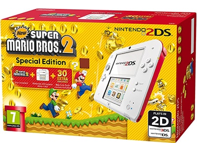 Nintendo 2DS Κόκκινο/Λευκό & New Super Mario Bros. 2
