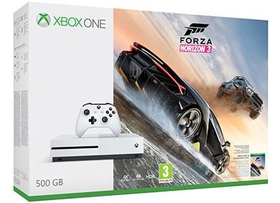Microsoft Xbox One S White - 500GB & Forza Horizon 3