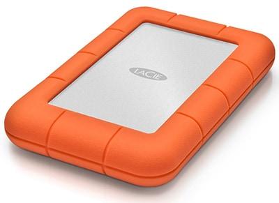 """Εξ. σκληρός δίσκος LaCie Rugged STFR2000400 2TB 2.5"""" USB 3.0 - Ασημί/Πορτοκαλί"""