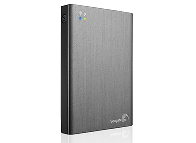 """Εξ. σκληρός δίσκος Seagate Wireless Plus Mobile 1TB 2.5"""" USB 3.0/Wi-Fi - Ασημί"""