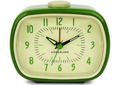 Ρολόι Ξυπνητήρι Kikkerland Retro Alarm Clock Πράσινο