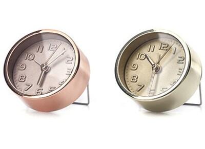 Mini Ρολόι Kikkerland Alarm Clock Χρυσό & Χάλκινο
