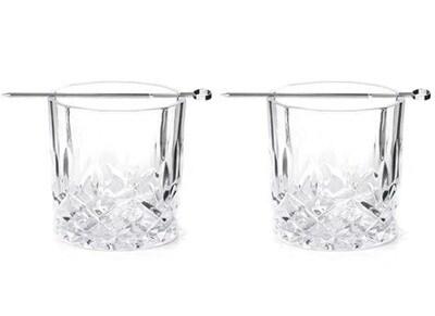 Ποτήρια Ουίσκι 2τμχ Kikkerland Whiskey Glass Set