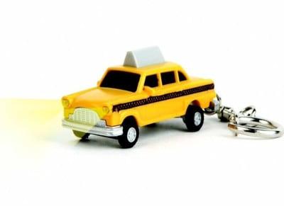 Μπρελόκ Kikkerland Taxi LED Keychain Κίτρινο