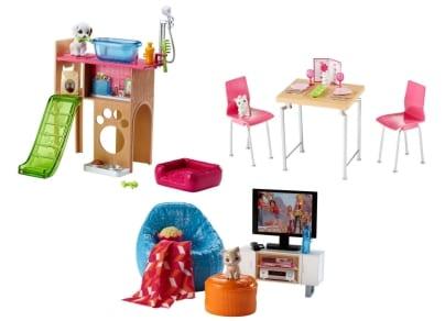 Σετ Barbie Έπιπλα Εσωτερικού Χώρου - 3 Σχέδια - 1 Τεμάχιο - DVX44